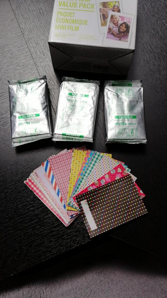 film pack instax mini 9, 3 film de  fotos