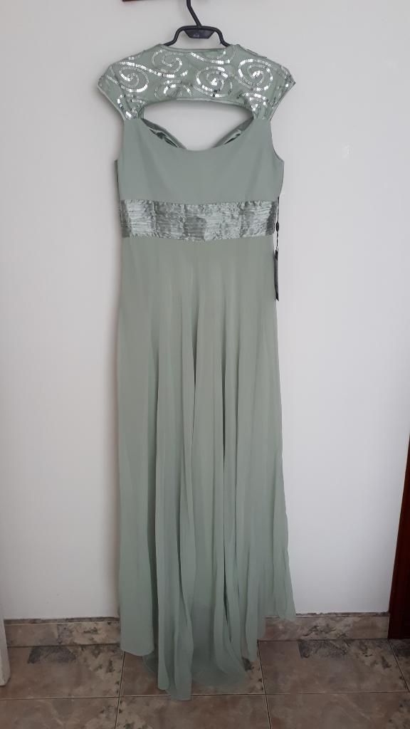 Ganga.vestido de Gala Verde Menta Nuevo.