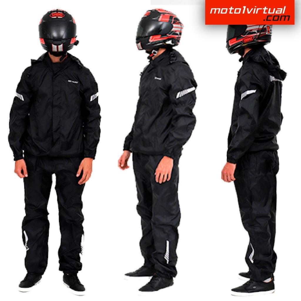 Impermeable Para Moto Negro