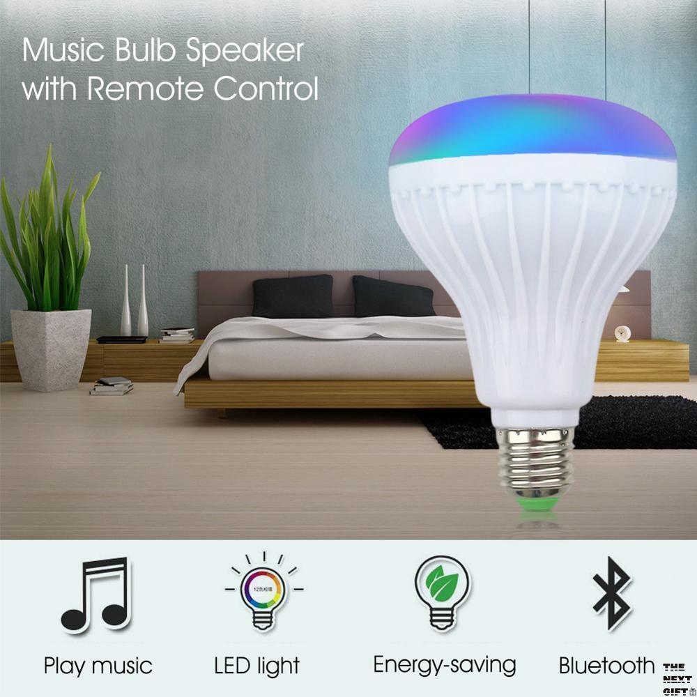 Bombillo Parlante Bluetooth USB Lámpara Led Eléctrica