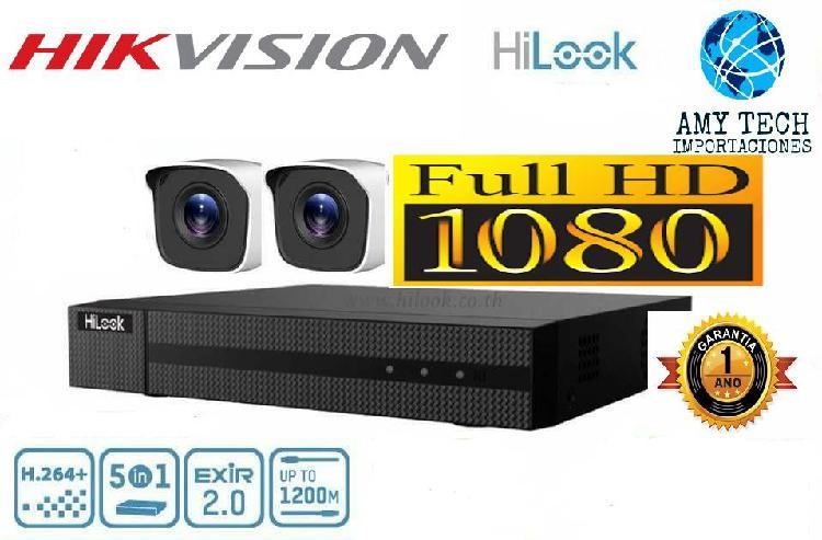 Kit Hikvision Hilook Dvr 1080P 4 Ch 2 Cámara Seguridad