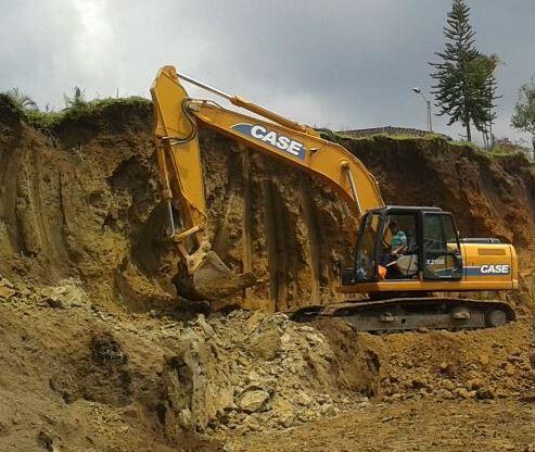 Retro excavadora Case CX210B similar Caterpillar 320 325 o