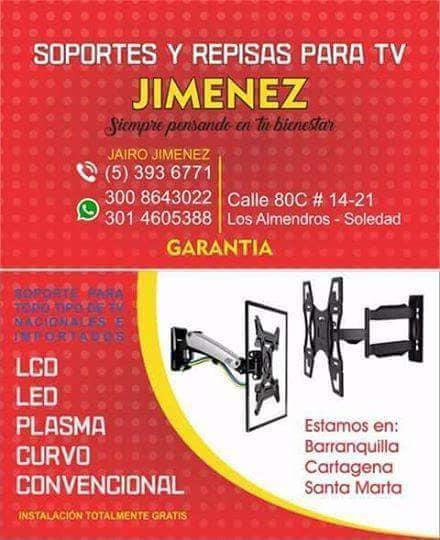 Soportes y Repisas para Tv Jimenez
