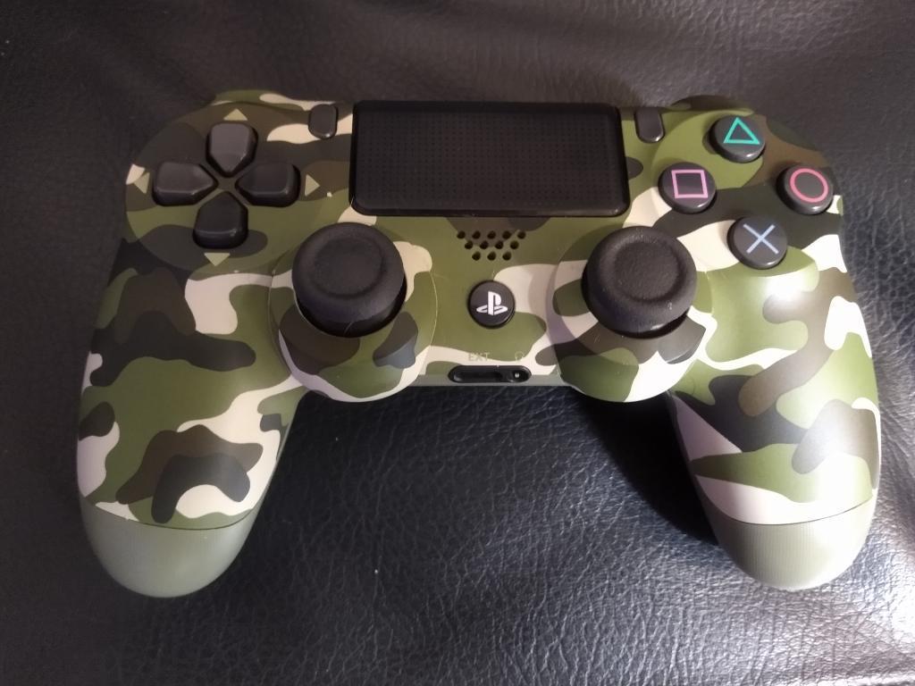 Control Ps4, Play 4 Camuflado Casi Nuevo