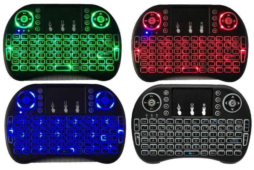 Mini Teclado Inalámbrico Con Luz Led Smart Tv Tv Box Pc