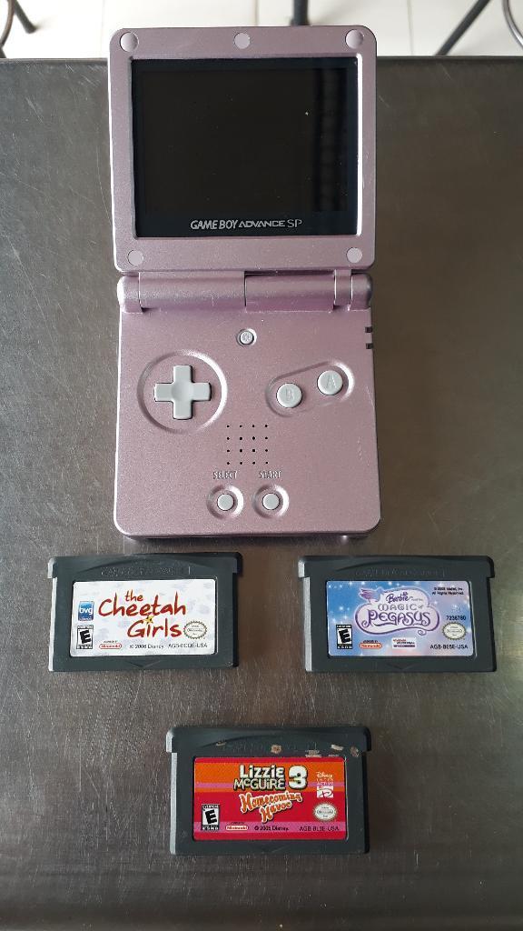 Nintendo Gameboy Sp con 3 Juegos