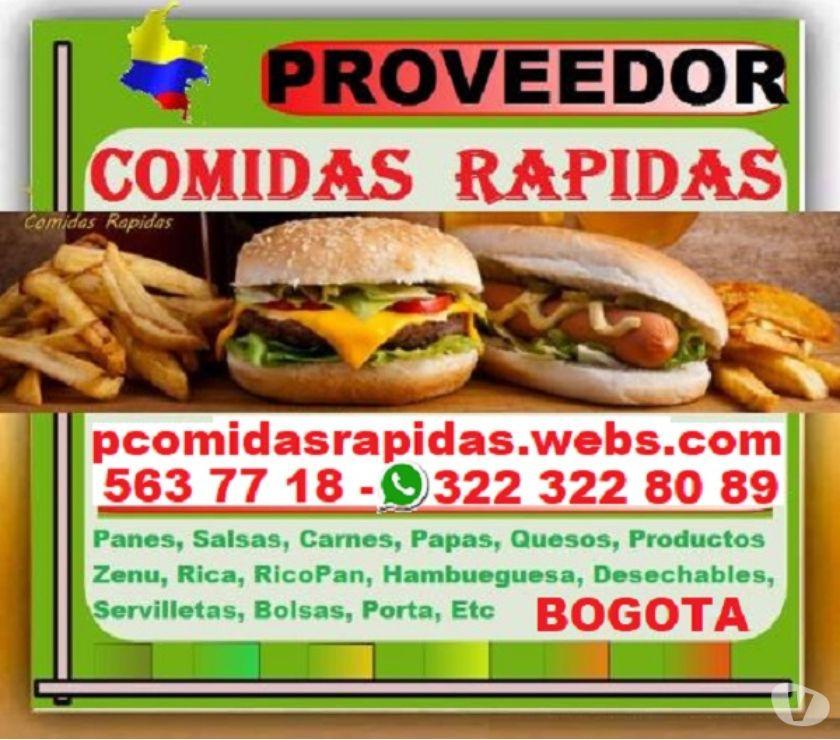 ⭐ Proveedores Comidas Rapidas, Panes, Salsas, Carnes,