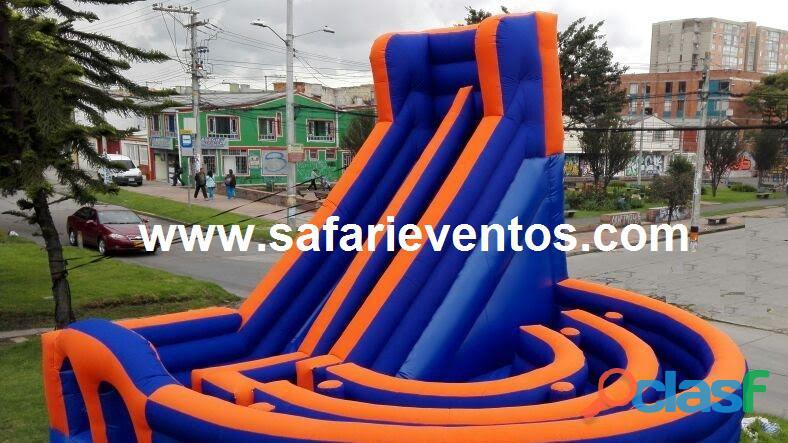 inflables saltarines, toro mecánico. Safari Eventos.