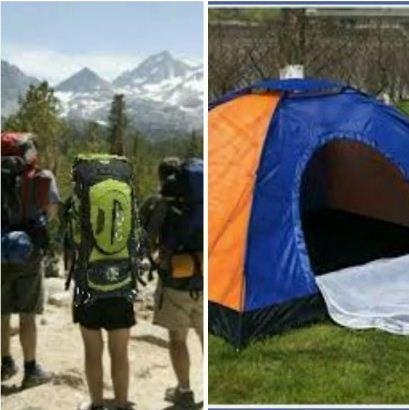 Combo Morral Camping 90 L Carpa Camping 4 Personas Envio