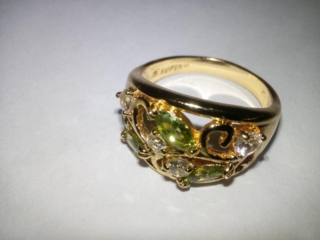 HERMOSO ANILLO ORO GOLD FILLED TALLA 7