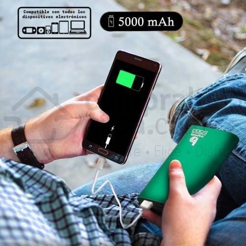 Power Bank 5000mAh Carga Rápida Batería Externa Cargador