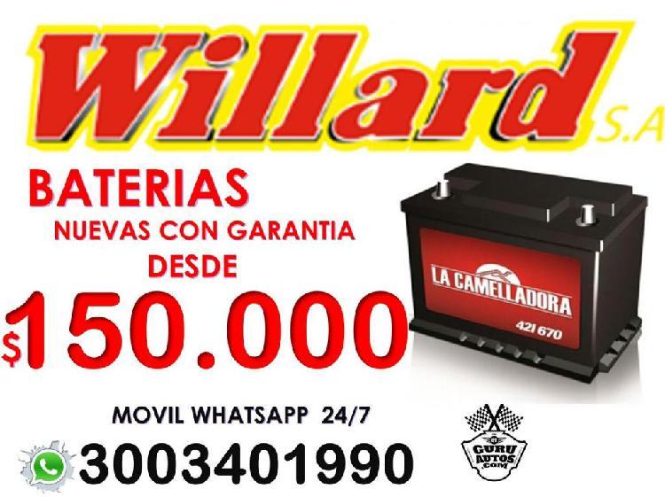 BATERÍAS WILLARD 670 AMPERIOS DOMICILIO E INSTALACIÓN