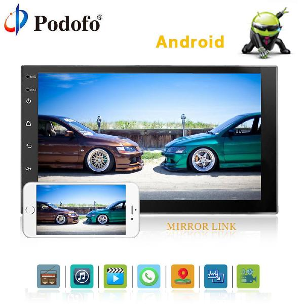 Radio para carro Android con pantalla 7 MP5 USB Bluetooth