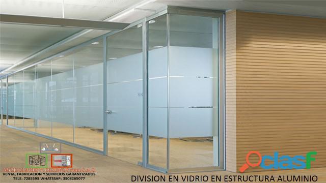 venta d divisiones de oficina en vidrio
