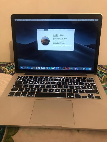 Macbook Retina 13.3 Mod 2013 Core I5 Perfecto Estado