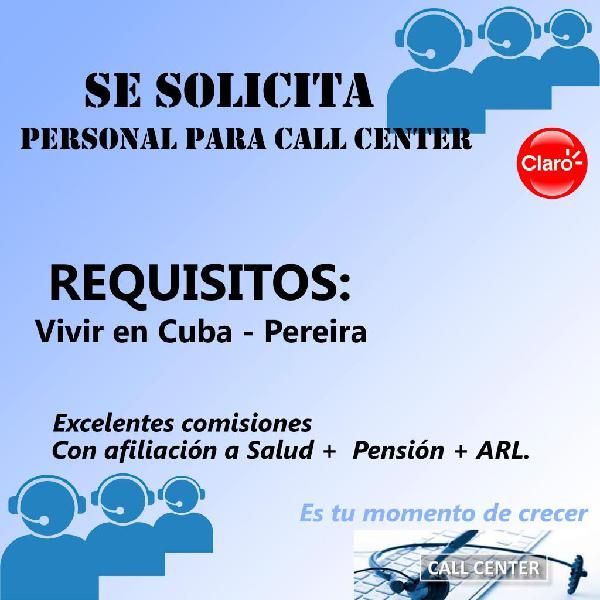 asesores comerciales para call center