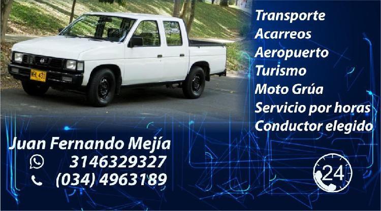 Servicio de Transporte,Acarreos,Motogrúa