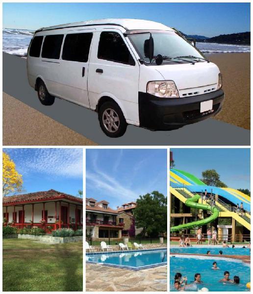 Servicio de transporte para hosterías, parques recreativos