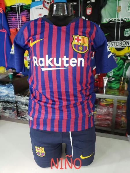 Camiseta Y Pantataloneta Barcelona Niño