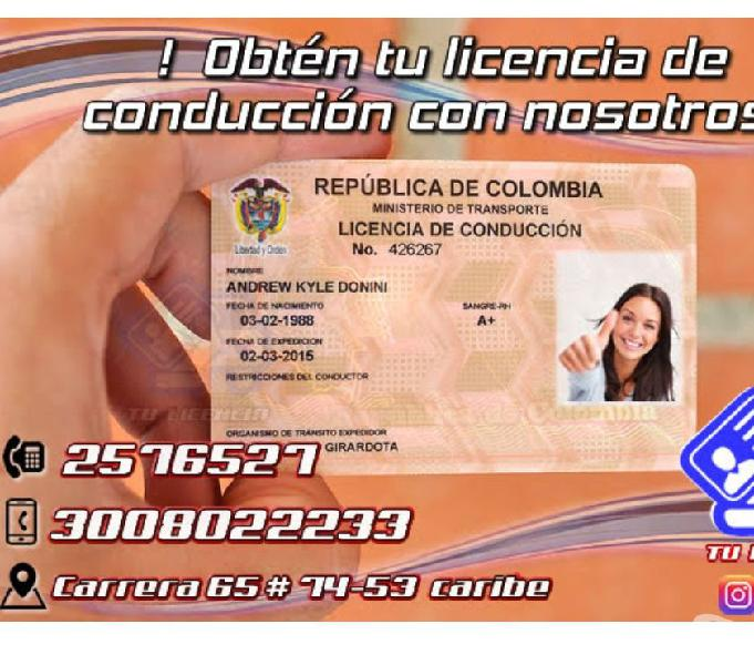 Curso de conducción, licencia, pases, refrendación