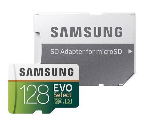 Memoria Micro Sd Samsung 128gb Clase 10 U3 100mbs Ultrahd 4k