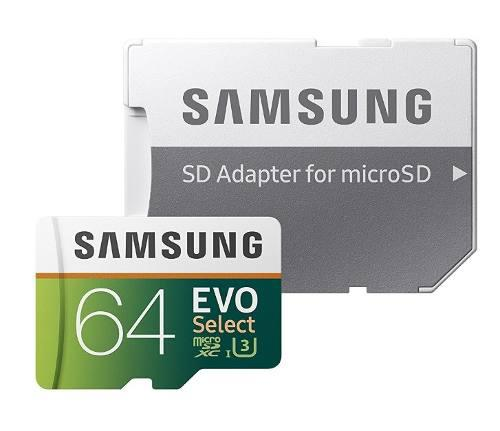 Memoria Micro Sd Samsung 64gb Clase 10 U3 100mb/s Ultrahd 4k