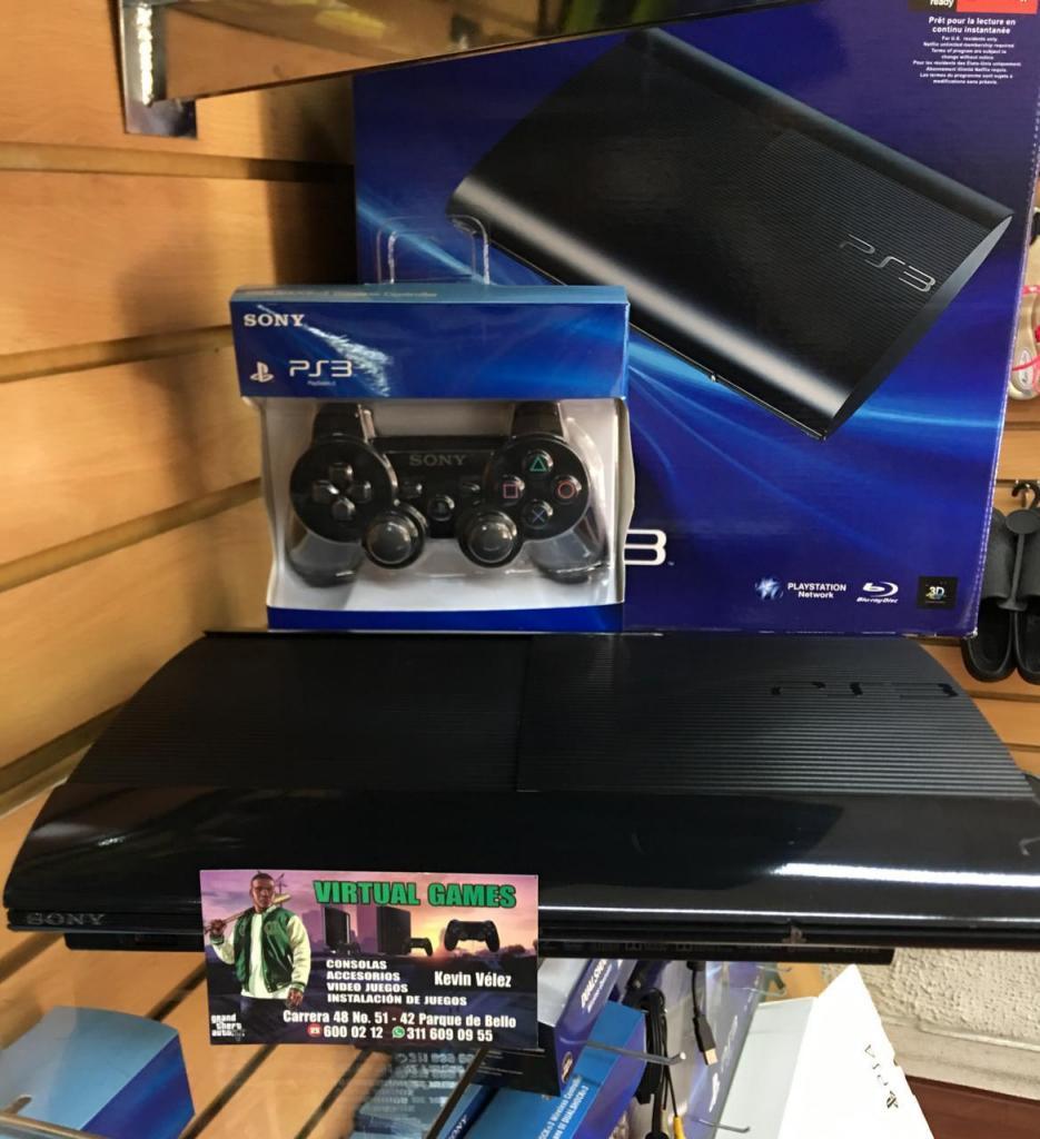 Play Station 3! PS3 Súper Slim con 60juegos! GARANTIA!