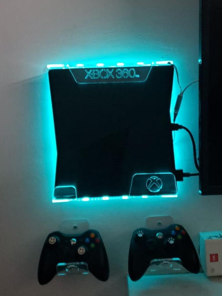 Soporte Base Pared Xbox 360 Slim Luz