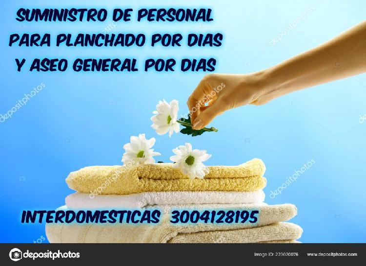 SUMINISTRAMOS PERSONAL PARA ASEO GENERAL POR DÍAS