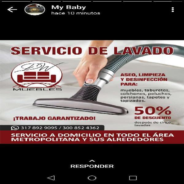 Servicio de Lavado de Muebles Colchones