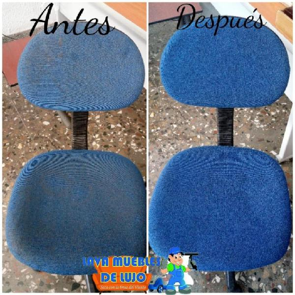 lavado de sillas de oficina
