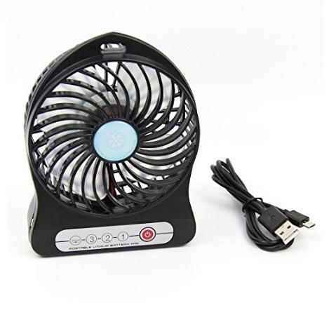 Mini Ventilador Portátil Recargable Linterna