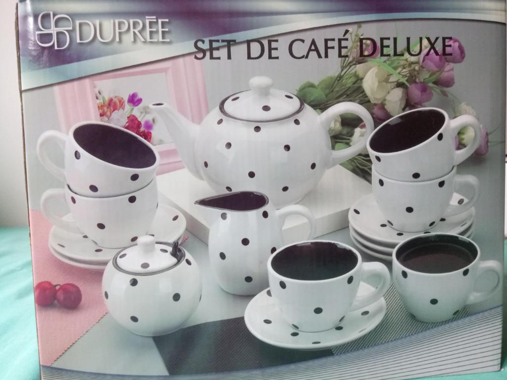 Set de café en cerámica por 15 piezas