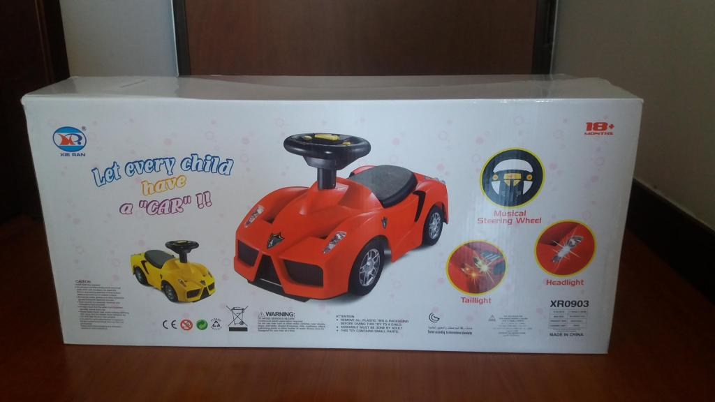 Carro Infantil Montable Rojo Musical Con Luces