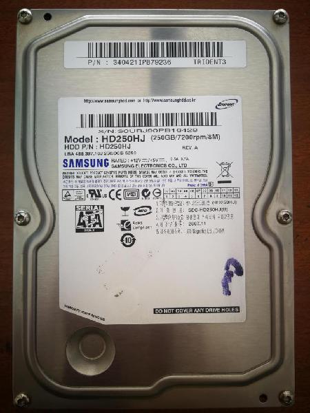 Disco Duro 250GB Sata Samsun PC