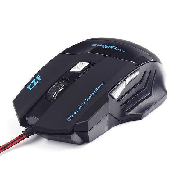 Mouse A50 Tipo Gaming/Para Gamer, 6 Botones, Para Juegos