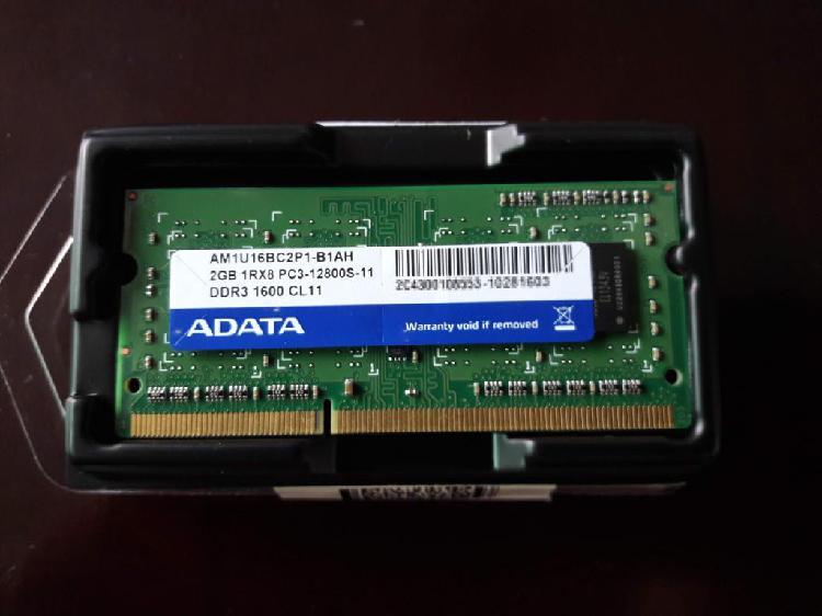 REMATE Memoria RAM DDR3 2GB para Portatil de 12800S.