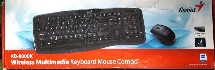 Teclado Y Mouse Inalámbrico Genius Nuevo