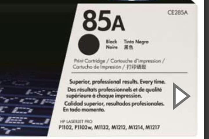Tóner láser para impresora 85A ORIGINAL