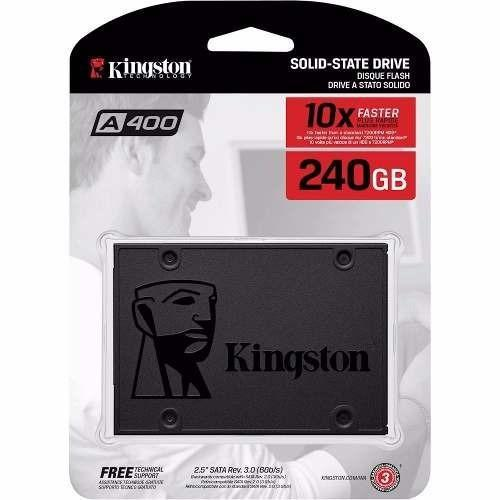 Unidad de estado solido SSD Kingston 240gb mas rapido que un
