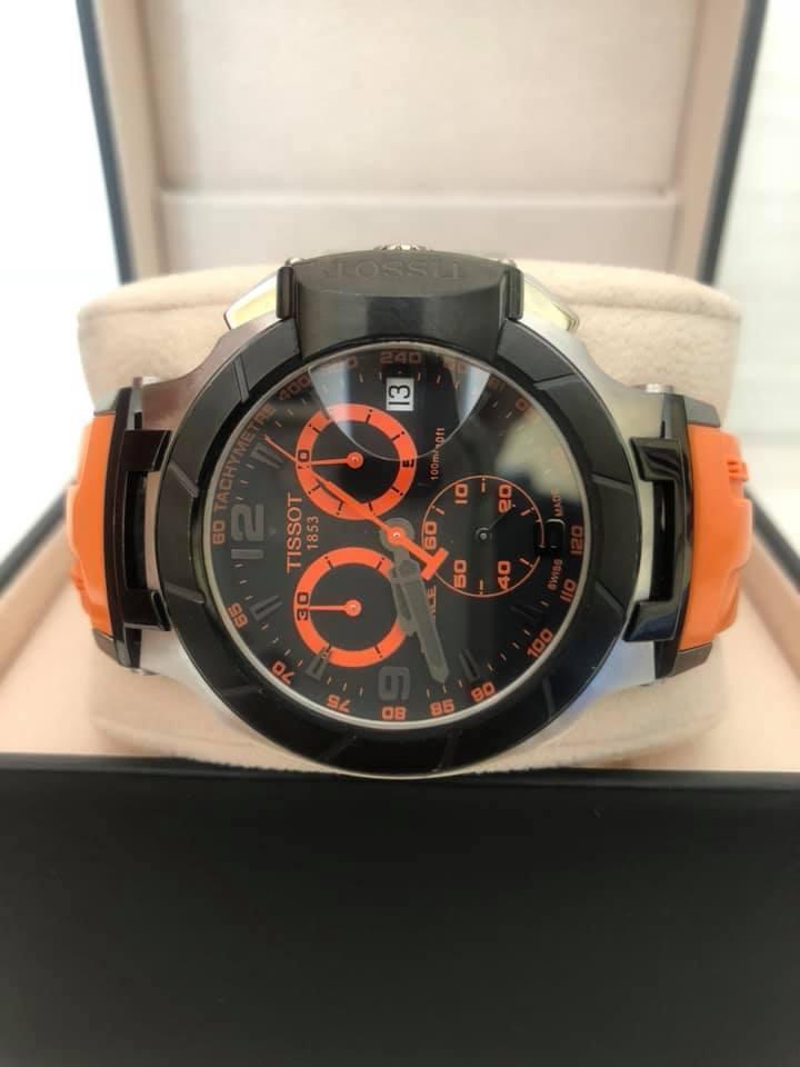 Reloj Tissot T Race Ta Para Caballero Original naranja