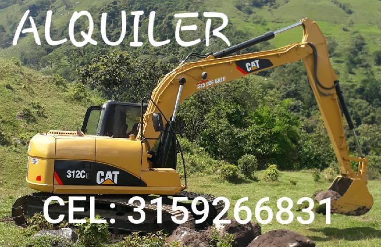 Alquiler de Excavadora D Oruga Cat312cl