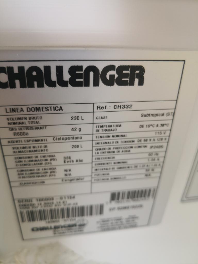 Congelador Horizontal Challenger Nuevo