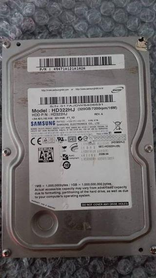 Disco Duro Sata Para Pc De Mesa Samsung 320gb En Buen Estado