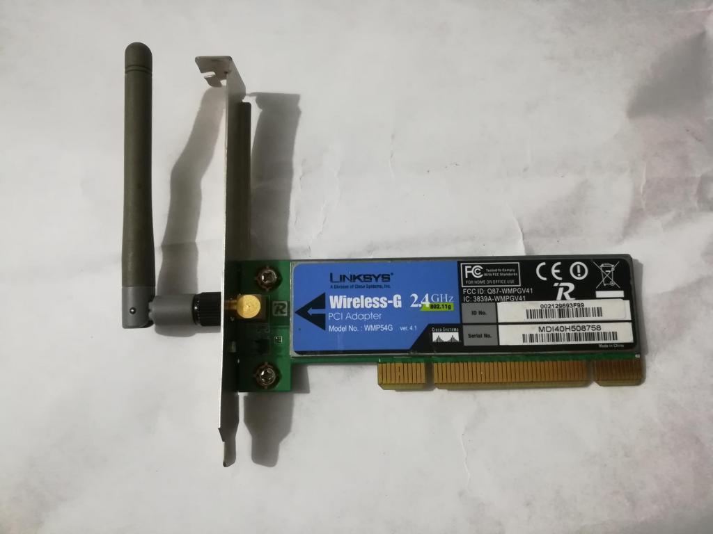 Tarjeta de red inalámbrica Wifi para puerto PCI