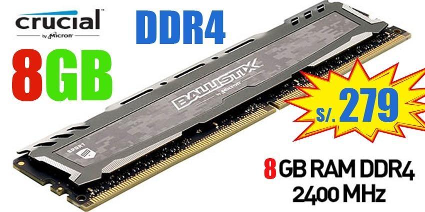VENDEMOS MEMORIAS RAM DDR4 DE 8GB A  NUEVAS GARANTIA AL