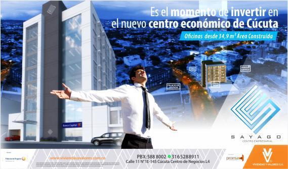 VENTA OFICINAS EN SAYAGO CÚCUTA, SAYAGO CENTRO EMPRESARIAL