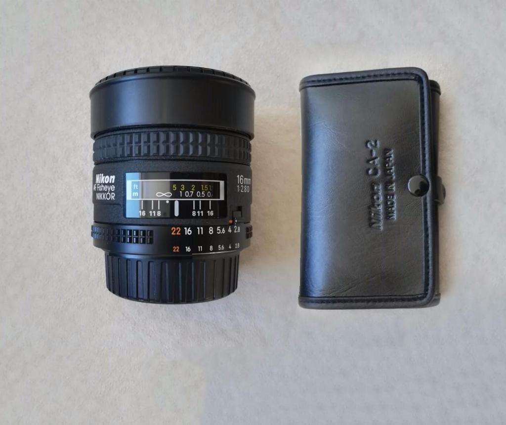 Lente Nikon Af Fisheye Nikkor 16mm