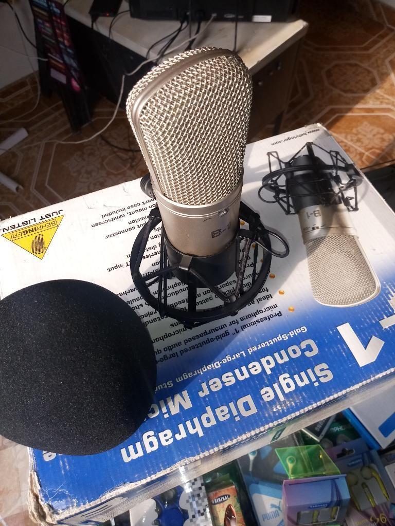 Microfono de Condensador con Estuche