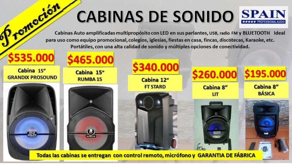 PROMOCIÓN CABINAS DE SONIDO 8 12 y 15 SPAIN